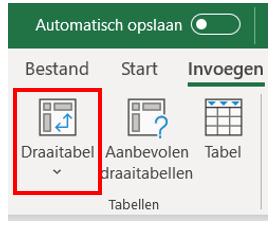 11. Maak draaitabel - Draaitabel maken Excel - IPro Training NL
