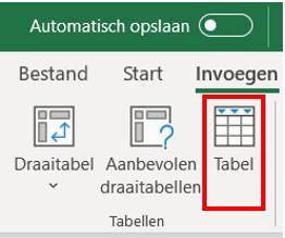 3. Klik op invoegen - Draaitabel maken Excel - IPro Training NL