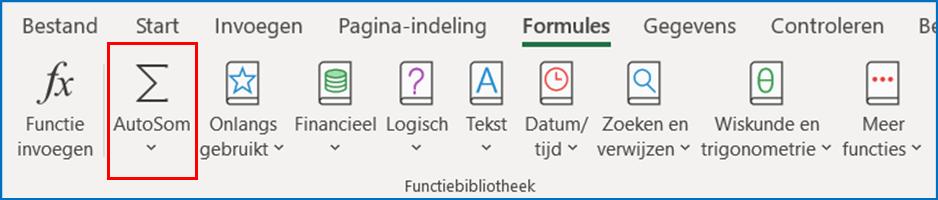 Functies stap 2 van Excel - IPro Training NL