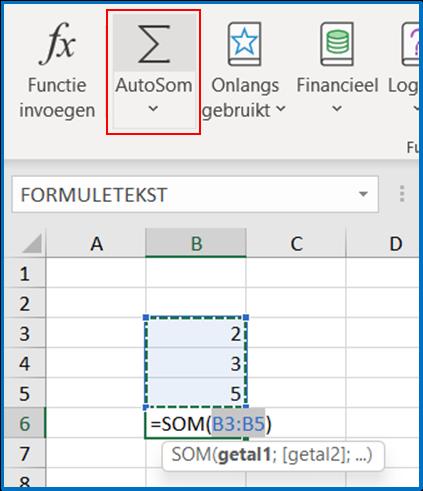Functies stap 3 van Excel - IPro Training NL